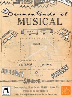 Cartel Desmontando el musical - Escuela Calambur Teatro
