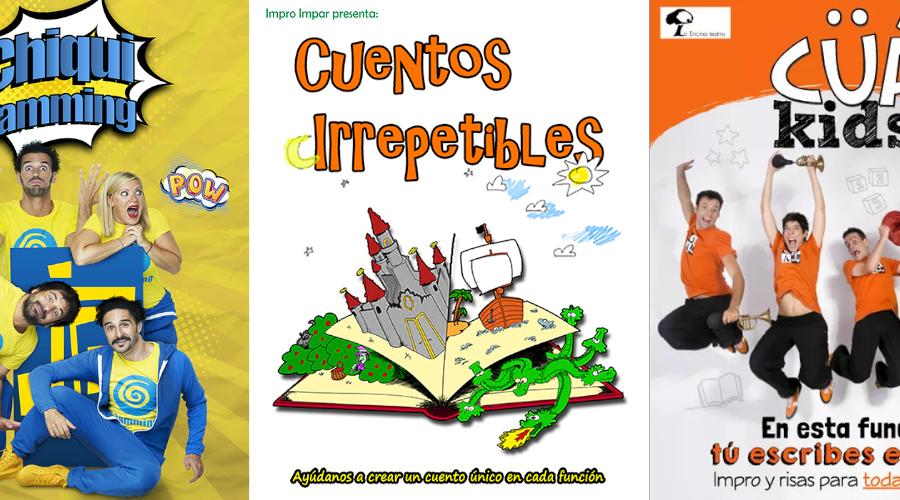 Carteles: ChiquiJamming, Cuentos Irrepetibles y CÜÁ Kids!